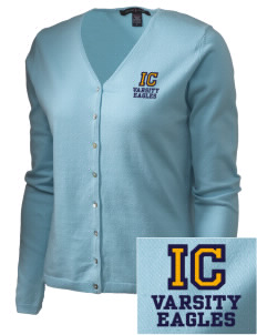 Immaculate Conception School Eagles Embroidered Women's Stretch Cardigan Sweater