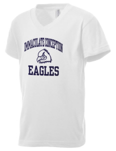 Immaculate Conception School Eagles Kid's V-Neck Jersey T-Shirt