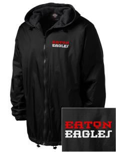 Eaton Elementary School Eagles Embroidered Dickies Men's Fleece-Lined Hooded Jacket