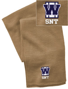 St. Nicholas of Tolentine High School Wildcats  Embroidered Knitted Scarf