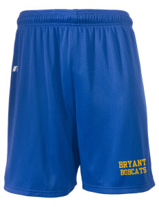 "Bryant Middle School Bobcats  Russell Men's Mesh Shorts, 7"" Inseam"