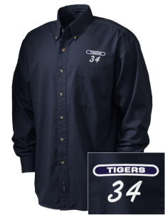 Fourteen Holy Helpers School Tigers Embroidered Men's Twill Shirt