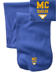 Manteca Christian School Eagles  Embroidered Extra Long Fleece Scarf