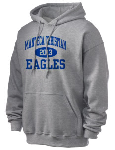 Manteca Christian School Eagles Ultra Blend 50/50 Hooded Sweatshirt