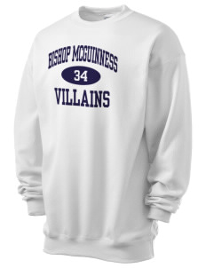 Bishop McGuinness Catholic High School Villains Men's 7.8 oz Lightweight Crewneck Sweatshirt