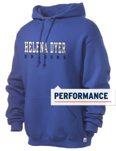 Helena Dyer Elementary School Dragons Russell Men's Dri-Power Hooded Sweatshirt