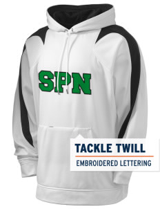 Saint Philip Neri School Spartans Holloway Men's Sports Fleece Hooded Sweatshirt with Tackle Twill