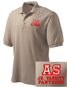 All Souls School Panthers Embroidered Tall Men's Silk Touch Polo