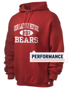 Our Lady Of Refuge School Bears Russell Men's Dri-Power Hooded Sweatshirt