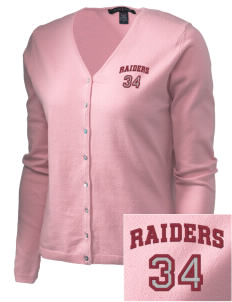 Saint Didacus Elementary School Raiders Embroidered Women's Stretch Cardigan Sweater