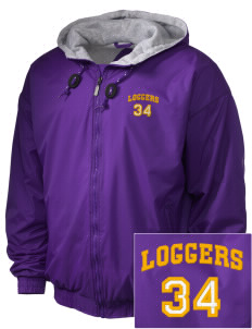 Onalaska Elementary Middle School Loggers Embroidered Holloway Men's Hooded Jacket