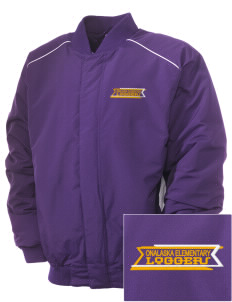 Onalaska Elementary Middle School Loggers Embroidered Russell Men's Baseball Jacket