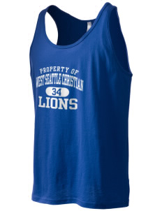 West Seattle Christian School Lions Men's Jersey Tank