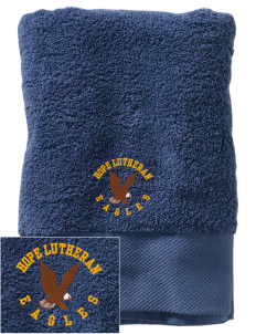 Hope Lutheran School Eagles Embroidered Zero Twist Resort Towel