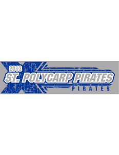 "Saint Polycarp Elementary School Pirates Bumper Sticker 11"" x 3"""
