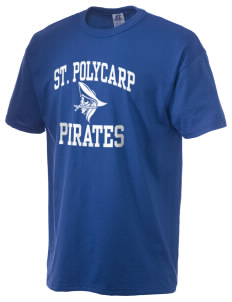 Saint Polycarp Elementary School Pirates  Russell Men's NuBlend T-Shirt