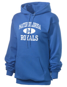 Mater Dolorosa Elementary School Royals Unisex 7.8 oz Lightweight Hooded Sweatshirt
