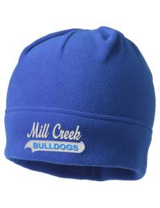 Mill Creek Middle School Bulldogs Embroidered Fleece Beanie