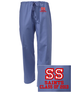 Saint Stanislaus School Saints Embroidered Scrub Pants