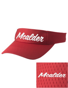 McAlder Elementary School Mustangs Embroidered Woven Cotton Visor