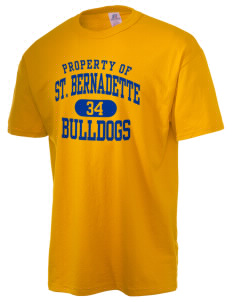 Saint Bernadette School Bulldogs  Russell Men's NuBlend T-Shirt