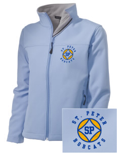 Saint Peter School Bobcats Embroidered Women's Soft Shell Jacket