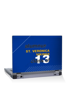 "Saint Veronica School Vikings 15"" Laptop Skin"