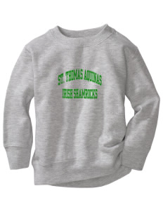 Saint Thomas Aquinas School Irish Shamrocks Toddler Crewneck Sweatshirt