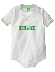 Saint Thomas Aquinas School Irish Shamrocks Baby One-Piece with Shoulder Snaps