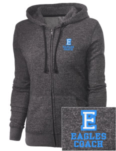 Eckstein Middle School Eagles Embroidered Women's Marled Full-Zip Hooded Sweatshirt