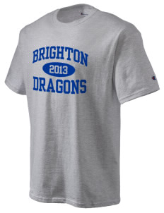Brighton Elementary School Dragons Champion Men's Tagless T-Shirt