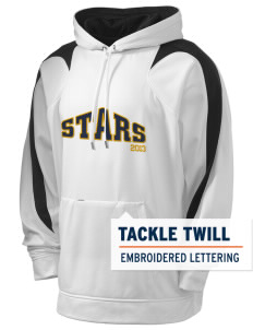Roxhill Elementary School Stars Holloway Men's Sports Fleece Hooded Sweatshirt with Tackle Twill