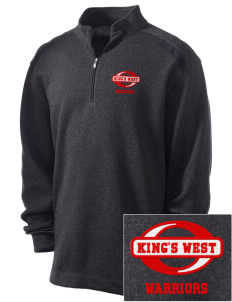 King's West School Warriors Embroidered Nike Men's Golf Heather Cover Up