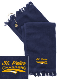 Saint Peter School Chargers  Embroidered Grommeted Finger Tip Towel