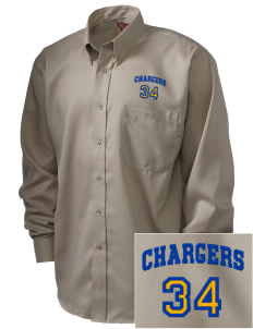Saint Peter School Chargers  Embroidered Men's Nailhead Non-Iron Button-Down