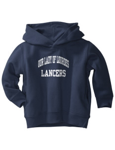 Our Lady Of Lord Saint James School Lancers  Toddler Fleece Hooded Sweatshirt with Pockets