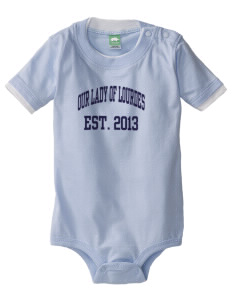 Our Lady Of Lord Saint James School Lancers Baby One-Piece with Shoulder Snaps