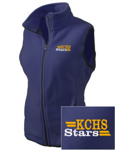 Kearney Catholic High School Stars Embroidered Women's Fleece Vest