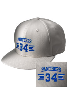 Christ The King School Panthers  Embroidered New Era Flat Bill Snapback Cap