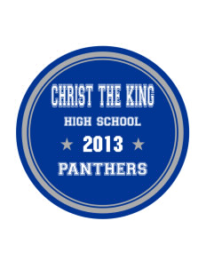 Christ The King School Panthers Sticker