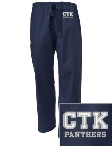 Christ The King School Panthers Embroidered Scrub Pants