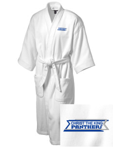 Christ The King School Panthers Embroidered Terry Velour Robe