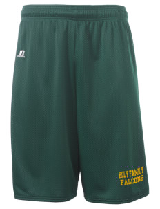 "Holy Family School Falcons  Russell Deluxe Mesh Shorts, 10"" Inseam"
