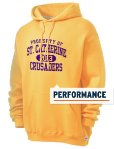 Saint Catherine School Crusaders Russell Men's Dri-Power Hooded Sweatshirt