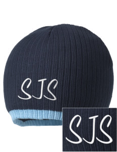 Saint Joseph School Jaguars Embroidered Champion Striped Knit Beanie
