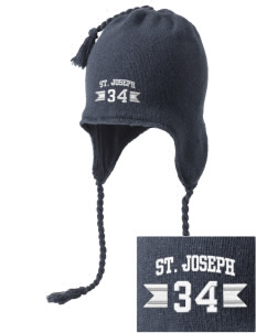 Saint Joseph School Jaguars Embroidered Knit Hat with Earflaps