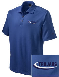 Trinity Catholic School Trojans Embroidered Nike Men's Dri-FIT Pique II Golf Polo