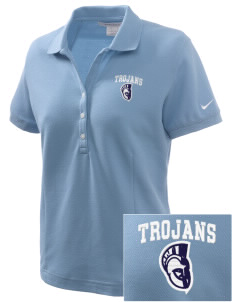 Trinity Catholic School Trojans Embroidered Nike Women's Pique Golf Polo