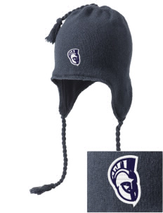 Trinity Catholic School Trojans Embroidered Knit Hat with Earflaps