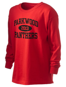 Parkwood Elementary School Panthers Kid's 6.1 oz Long Sleeve Ultra Cotton T-Shirt